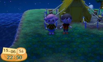 Este es el primer día en el que nos visitamos. En mi casa se juega Animal Crossing en familia!!